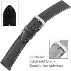 Uhrenarmband Men XL 20mm schwarz
