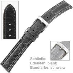 Uhrenarmband Men XL 20 mm Edelstahl, schwarz