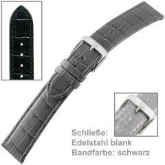 Uhrenarmband Men XL, schwarz 18 mm