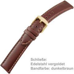 Uhrenarmband Men XL dunkelbraun 18 mm