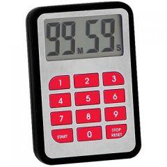 Atlanta 246/7 Kurzzeitmesser mit Magnet Kurzzeitwecker Timer schwarz rot