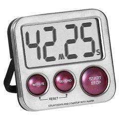 Atlanta 240/1 Kurzzeitmesser digital Metall mit Magnet Küchen Timer