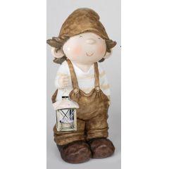 formano Zwerg Willi mit Laterne in der Hand, creme braun, 50 cm