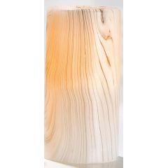 GILDE Echtwachs LED Kerze im Holzstil, 15 x 7 cm