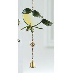 GILDE Dekohänger Vogel als Fensterbild, grün 47 cm