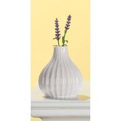 GILDE Moderne Keramikvase weiß glasiert, 11 cm