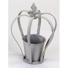 formano Pflanzkrone mit Blumentopf antik grau, 26 cm