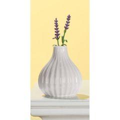 GILDE moderne Keramik-Vase weiß glasiert, 11 cm
