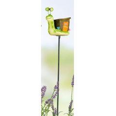 GILDE Gartenstecker lustige Schnecke mit, Holzhaus 100 cm