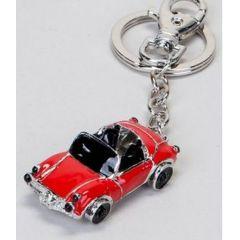 Schlüsselanhänger Cabrio, rot, 6 cm