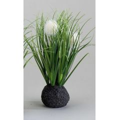 formano Grasbüschel auf Sockel, rund, 20 cm