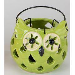 formano Windlicht Eule Summertime, 18 cm grün