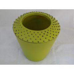 Blumenvase in Grün mit Noppen 20 cm