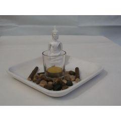 Buddha Kerzen-Set, 20,5 cm
