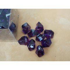 1 Box Deko Kristalle in Lila