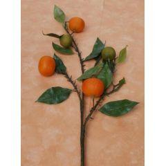 Deko-Orangenzweig aus Kunststoff