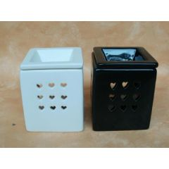 Duftlampe aus Keramik in Weiß oder Schwarz