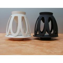 Duftlampe black-white aus Keramik