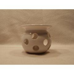 Weiße Keramik Duftlampe, 11 cm