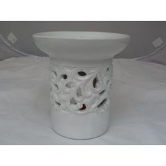 Duftlampe aus Keramik in Weiß 12,5 cm hoch