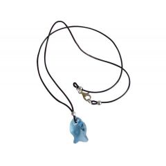 Halskette Fisch *Aquamarin* Silber WITH SWAROVSKI ELEMENTS®