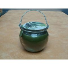 Duftkerze Olive im Henkelglas
