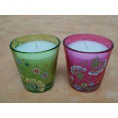 Kerze im Glas 2er Set Sommerpaar