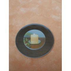 Spiegel-Kerzenteller rund, 12 cm