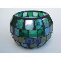 Windlicht Mosaik-Glas mit LED