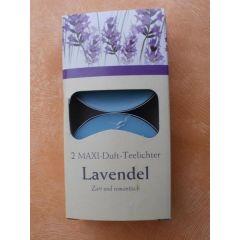 Maxi-Teelichter Lavendel 2 Stück