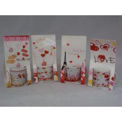 4 Mini-Tassen love aus Keramik