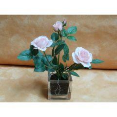Kunstblume Rose im Glastopf