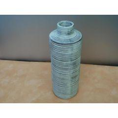 Vase aus Ton ca. 31 cm hoch/weiß lasiert