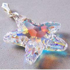 Schmuckanhänger großer Swarovski® Seestern Kristall mit 925 Silberfassung
