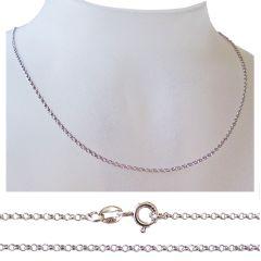 Erbskette aus 925 Silber Rhodium, Silberkette, lange Halskette Anhängerkette viele Längen