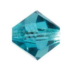Swarowski Doppelkegel, blue zircon