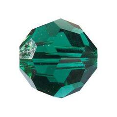 Swarowski Rundperle, emerald 4mm