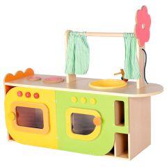 Kinderküche Maße: 113 x 36 x 85 cm, Da leuchten Puppenmamas Augen