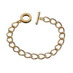 Gliederarmband mit Knebelverschluss, 20 cm