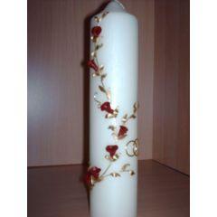 Geburtstags- oder Hochzeitskerze mit Blumenranke handarbeit