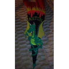 Schultüte Dragon Bastelset oder Fertige Schultüte in Handarbeit für Sie hergestellt