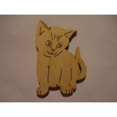 Holz Kleinteile gelasert Katze