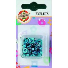 Eyelet Fun-Figuren metallic hellblau 3MM