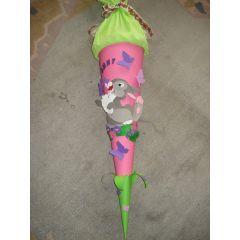 Schultütenbastelset  Hase in Handarbeit hergestellt oder als fertige Schultüte