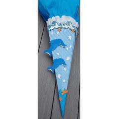 Schultuete Delphin in Handarbeit für Sie hergestellt