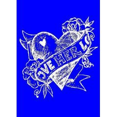 My style Schablone: Heart  Herz      A4