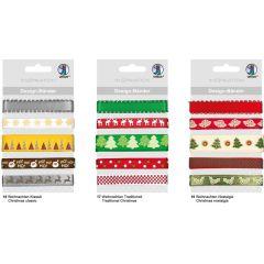 Designbänder 5 x 90 cm Weihnachten Nostalgie rot /grün