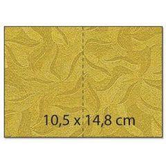 Umschlag C6 / Karte / Karton A4 Rechteck  starfish gold