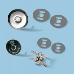TRENDYbag Taschenmagnetverschluss silber 14 mm