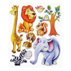 3 D Sticker Africa Tiere XXL 30x30 cm